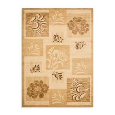 Safavieh Lyndhurst Flower and Leaf Motif 8-Foot x 11-Foot Room Size Rug in Ivory