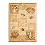 Safavieh Lyndhurst Flower and Leaf Motif 5-Foot 3-Inch x 7-Foot 6-Inch Room Size Rug in Ivory