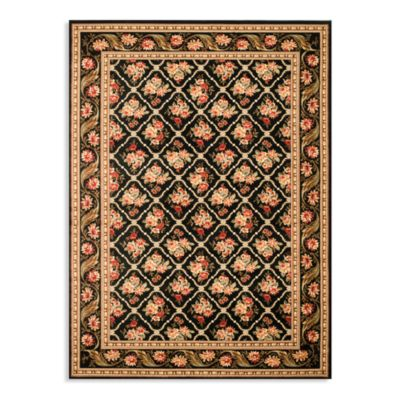 Safavieh Black Floral Room Rug