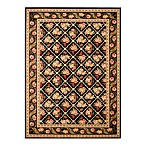 Safavieh Lyndhurst Floral Bouquet 8-Foot x 11-Foot Room Size Rug in Black