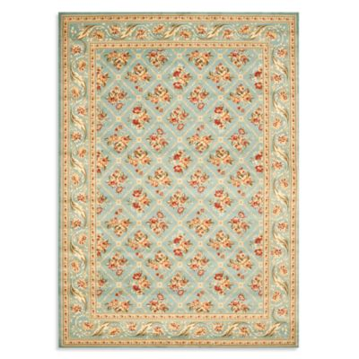 Safavieh Lyndhurst Floral Bouquet 5-Foot 3-Inch x 7-Foot 6-Inch Room Size Rug in Blue
