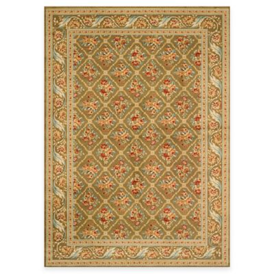 Safavieh Lyndhurst Floral Bouquet 8-Foot x 11-Foot Room Size Rug in Green