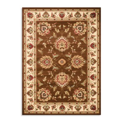 Safavieh Lyndhurst Flower Palmette 8-Foot x 11-Foot Room Size Rug in Brown