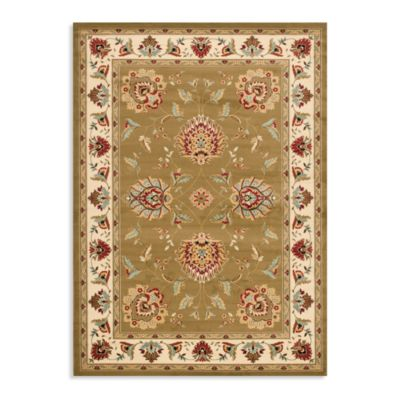 Safavieh Lyndhurst Flower Palmette 5-Foot 3-Inch x 7-Foot 6-Inch Room Size Rug in Green