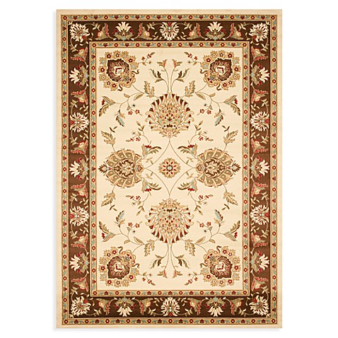 Safavieh Lyndhurst Flower Palmette 5-Foot-Foot 3-Inch x 7-Foot 6-Inch Room Size Rug in Ivory