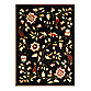 Safavieh Lyndhurst Flower and Vine Room Size 8-Foot x 11-Foot Room Size Rug in Black