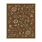 Safavieh Lyndhurst Flower and Vine 5-Foot 3-Inch x 7-Foot 6-Inch Room Size Rug in Brown