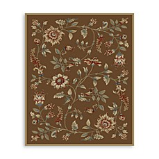 Safavieh Lyndhurst Flower and Vine 8-Foot x 11-Foot Room Size Rug in Brown