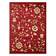 Safavieh Lyndhurst Flower and Vine Room Size Rug in Red
