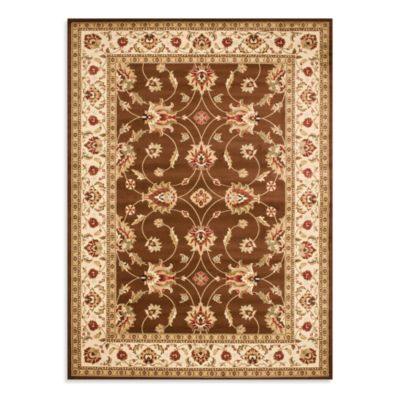 Safavieh Lyndhurst Flower 5-Foot x 3-Inch x 7-Foot 6-Inch Rug in Brown