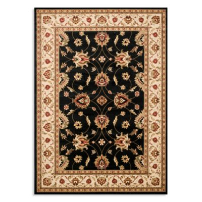 Safavieh Lyndhurst Flower 8-Foot x 11-Foot Room Size Rug in Black