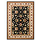 Safavieh Lyndhurst Flower 5-Foot 3-Inch x 7-Foot 6-Inch Room Size Rug in Black