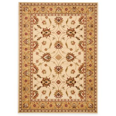 Safavieh Lyndhurst Flower 8-Foot x 11-Foot Room Size Rug in Ivory
