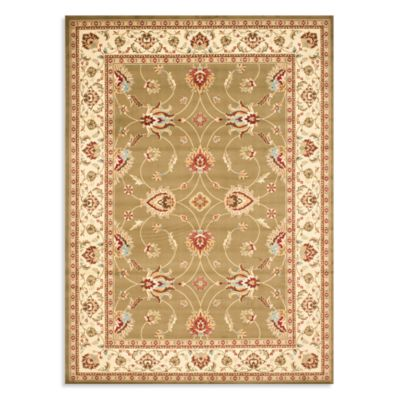 Safavieh Lyndhurst Flower 8-Foot x 11-Foot Room Size Rug in Green