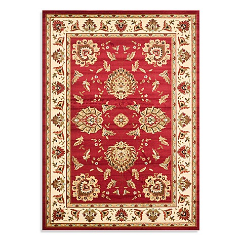 Safavieh Lyndhurst Flower 5-Foot 3-Inch x 7-Foot 6-Inch Room Size Rug in Red