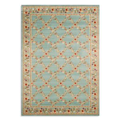 Safavieh Lyndhurst Flower and Vine 8' x 11' Room Size Rug in Blue