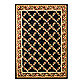 Safavieh Lyndhurst Flower and Vine 5-Foot 3-Inch x 7-Foot 6-Inch Room Size Rug in Black
