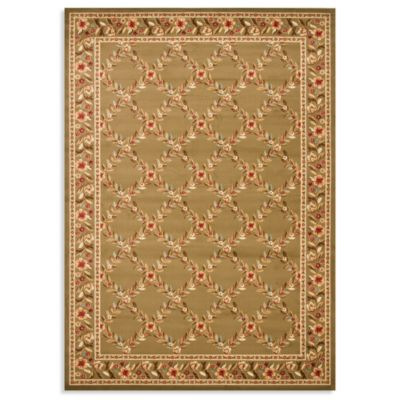 Safavieh Lyndhurst Flower and Vine 8-Foot x 11-Foot Room Size Rug in Green