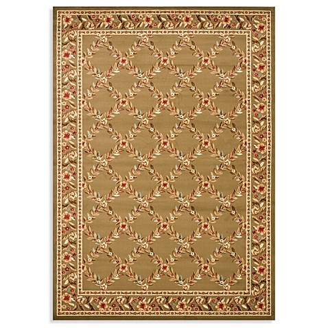 Safavieh Lyndhurst Flower and Vine Rug in Green