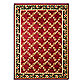 Safavieh Lyndhurst Flower and Vine 5-Foot 3-Inch x 7-Foot 6-Inch Room Size Rug in Red