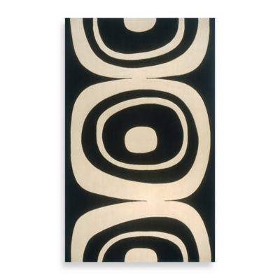 Momeni Elements Black 3-Foot x 5-Foot Area Rug