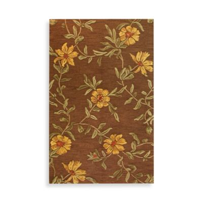 Chocolate Floral Burst Rug