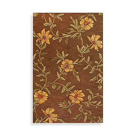 Floral Burst 5-Foot x 8-Foot Room Size Rug in Chocolate