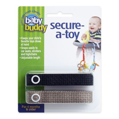 Baby Buddy® Secure-A-Toy in Black/Tan(2-Pack)