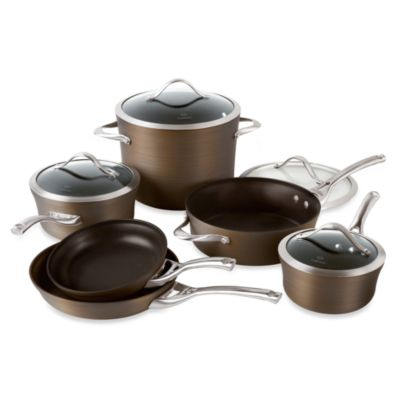 Calphalon® Contemporary Nonstick Bronze Anodized Edition 10-Piece Cookware Set
