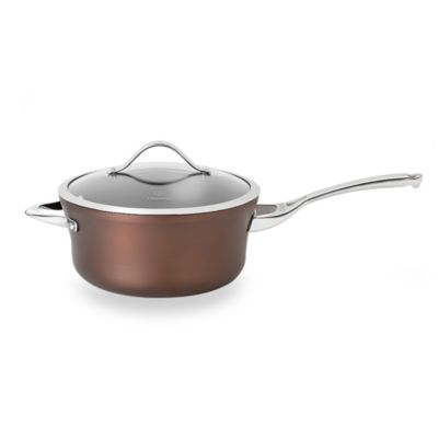 Calphalon® Contemporary Nonstick Bronze Anodized Edition 4.5-Quart Covered Saucepan