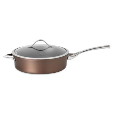 Calphalon® Contemporary Nonstick Bronze Anodized Edition 5-Quart Covered Saute Pan