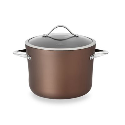 Calphalon® Contemporary Nonstick Bronze Anodized Edition 8-Quart Covered Stock Pot