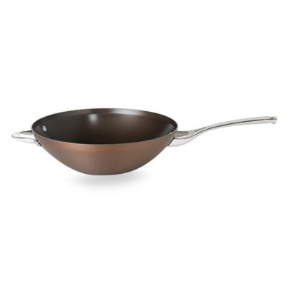 Calphalon® Contemporary Nonstick Bronze Anodized Edition 12-Inch Wok with Helper Handle