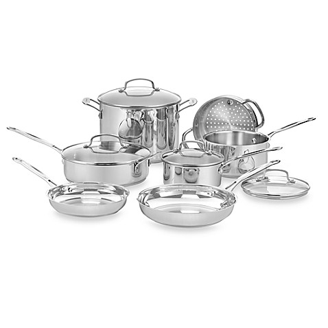 Cuisinart® Chef's Classic™ Stainless Steel 11-Piece Cookware Set
