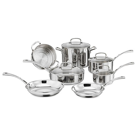 Cuisinart® French Classic Tri-Ply Stainless 11-Piece Cookware Set