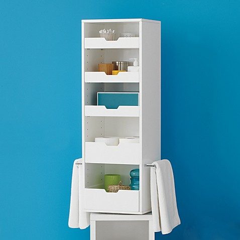 real simple solutions rotating storage tower bed bath beyond. Black Bedroom Furniture Sets. Home Design Ideas