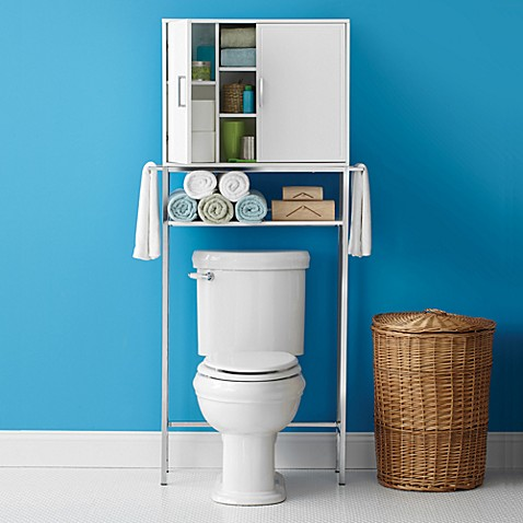 Real simple solutions space saving bath cabinet with for Space saving bed solutions
