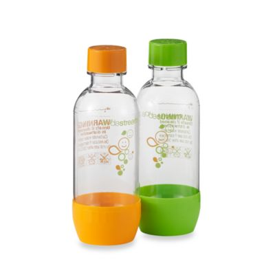 SodaStream 1/2-Liter Carbonating Bottles in Orange/Green Smiley (Set of 2)