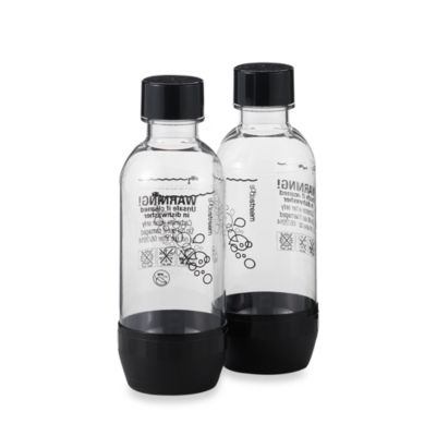 SodaStream 1/2-Liter Carbonating Bottles in Black (Set of 2)