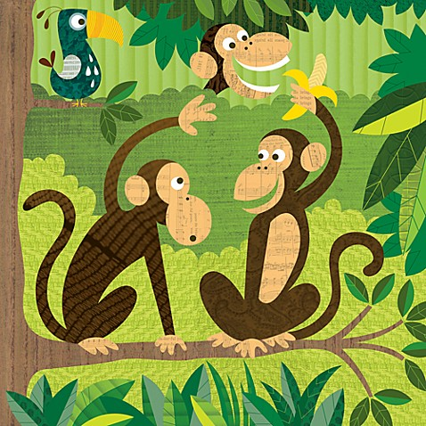 Monkeys II Canvas Wall Art