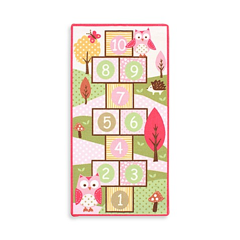 Owl Hopscotch Game Rug