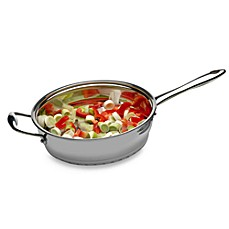 BergHOFF® Zeno 3-Quart Stainless Steel Covered Deep Skillet