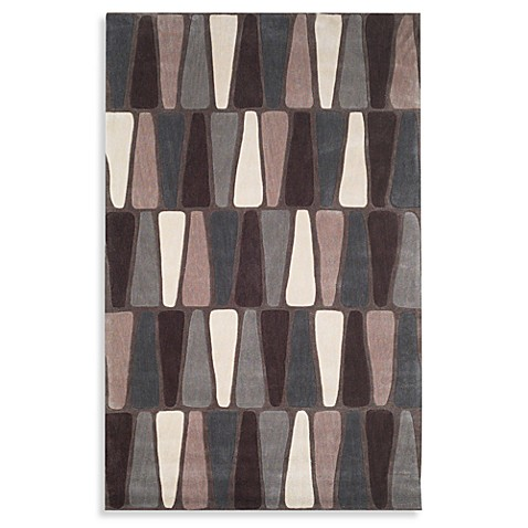 Square 9 Loft Triangles Hand Tufted Black Area Rug