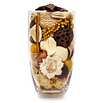 Nature's Inspirations Glass Vase Potpourri in Vanilla Flower