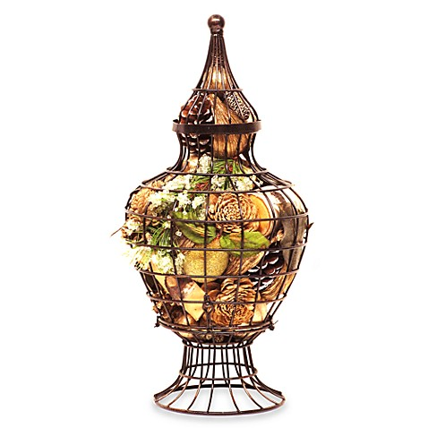 Nature's Inspirations Wire Urn Potpourri in Frosted Pine