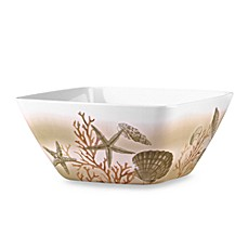 Under The Sea Melamine 11-Inch Large Square Bowl