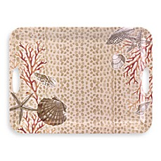 Under The Sea Melamine 19-Inch Rectangular Serving Tray with Handles