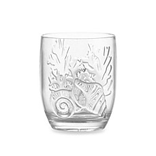 Etched Coral Shell Acrylic Double Old Fashioned