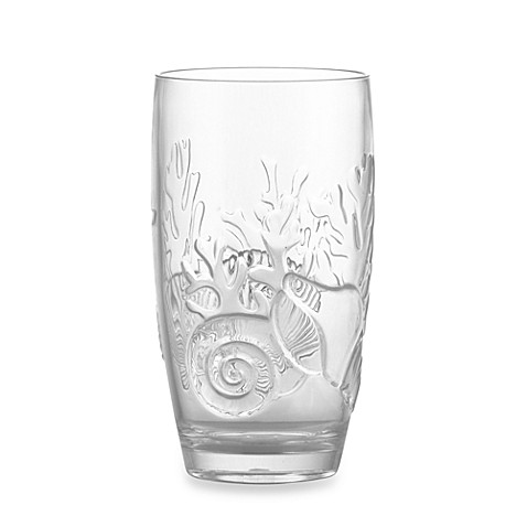 Etched Coral Shell Acrylic Highball