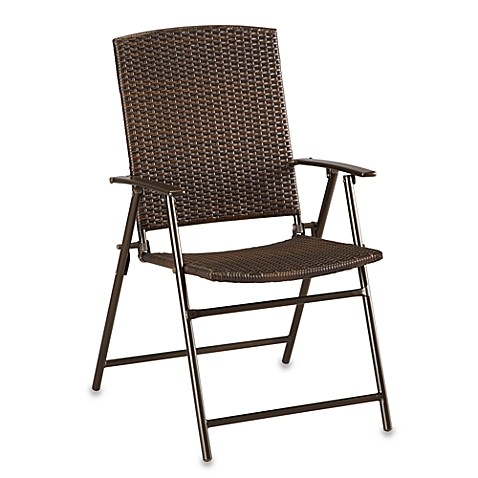Buy Bistro Folding Wicker Chair From Bed Bath Amp Beyond